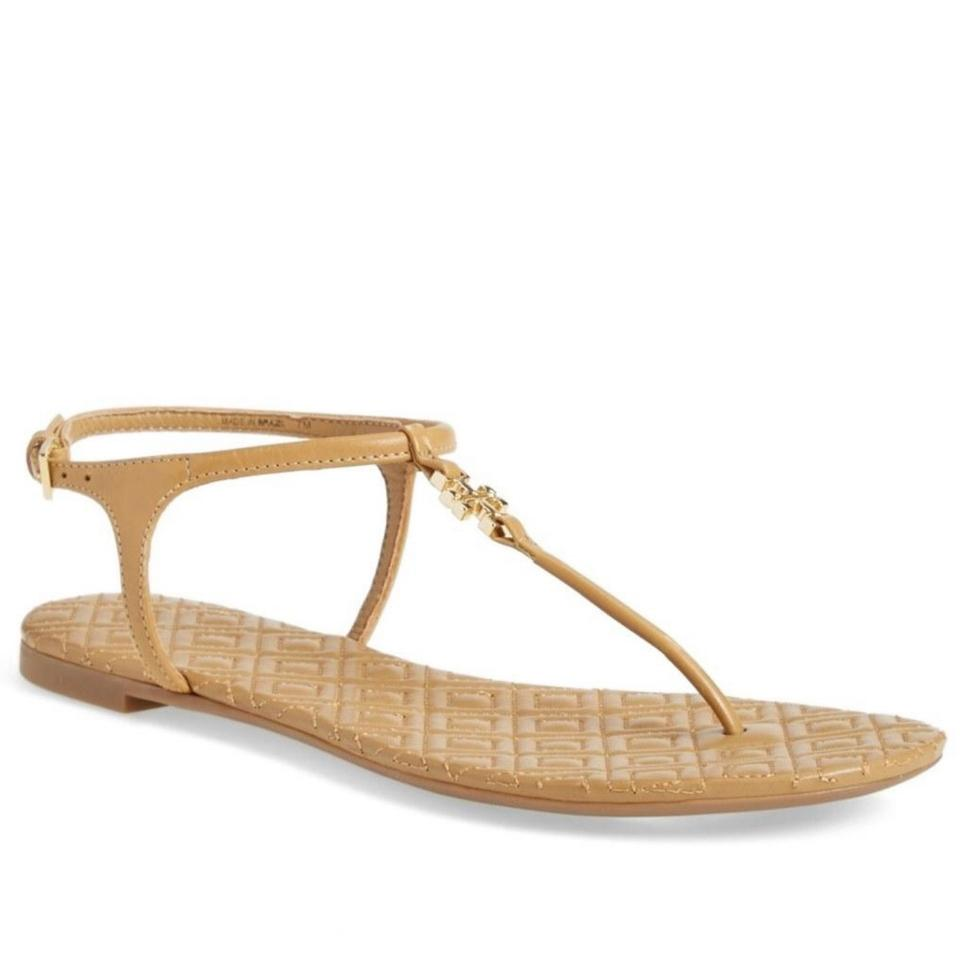 3c2cb0bfe6152 Tory Burch Sand Marion 43081 Quilted Leather Sandals Size US 8.5 ...