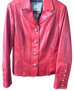 Riani red Leather Jacket