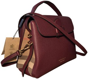 679dac91ad54 Burberry Satchel Prorsum House Check Camberley Tote in Mahogany Red