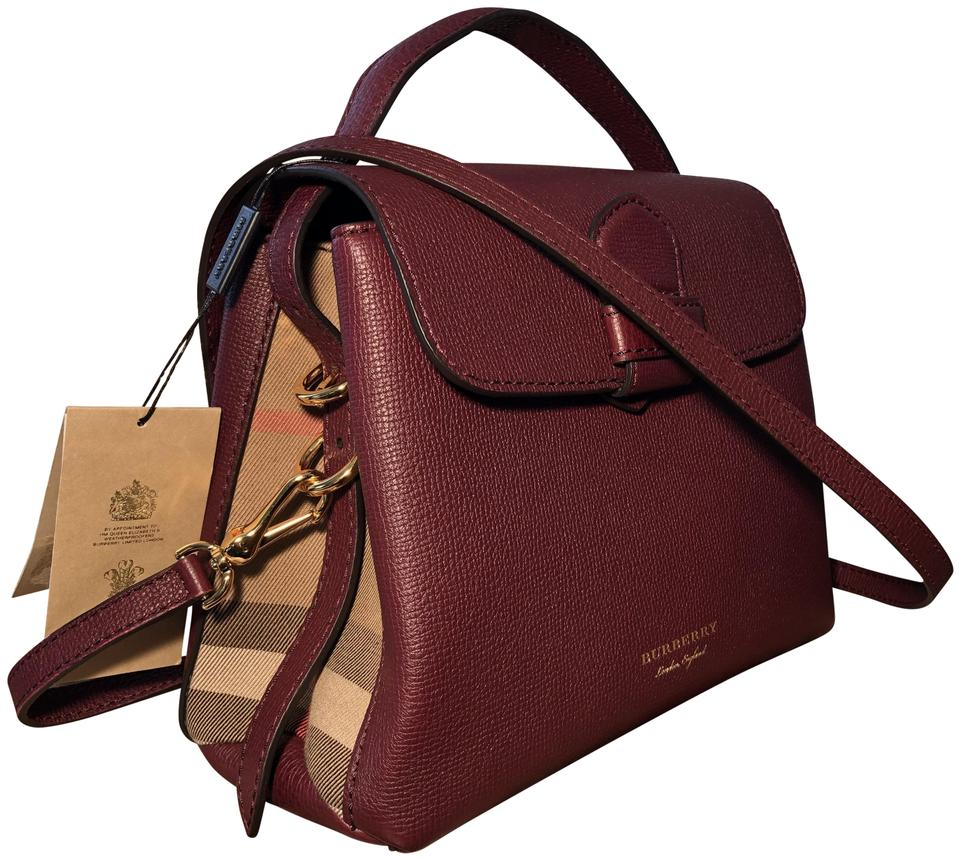 0c7797cdb18b Burberry Satchel Prorsum House Check Camberley Tote in Mahogany Red Image 0  ...