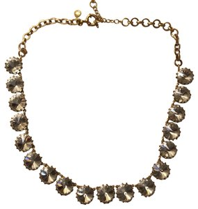 J.Crew clear stone necklace with gold