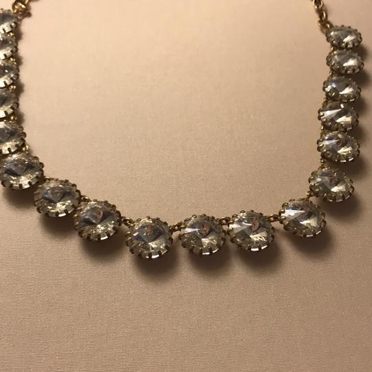 J.Crew clear stone necklace with gold Image 1