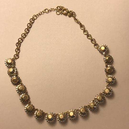 J.Crew clear stone necklace with gold Image 2