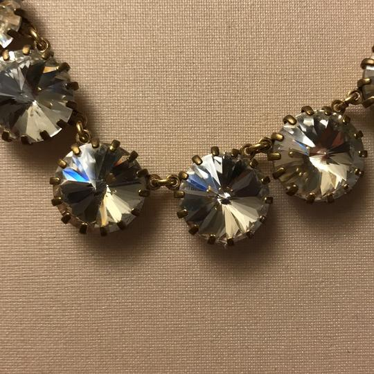 J.Crew clear stone necklace with gold Image 3