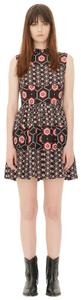 Sandro short dress Black with red and white print. on Tradesy