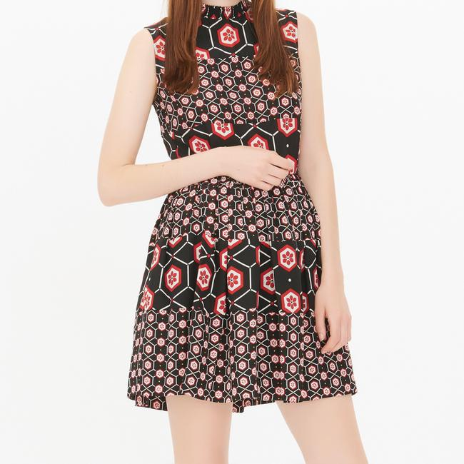 Sandro short dress Black with red and white print. on Tradesy Image 1