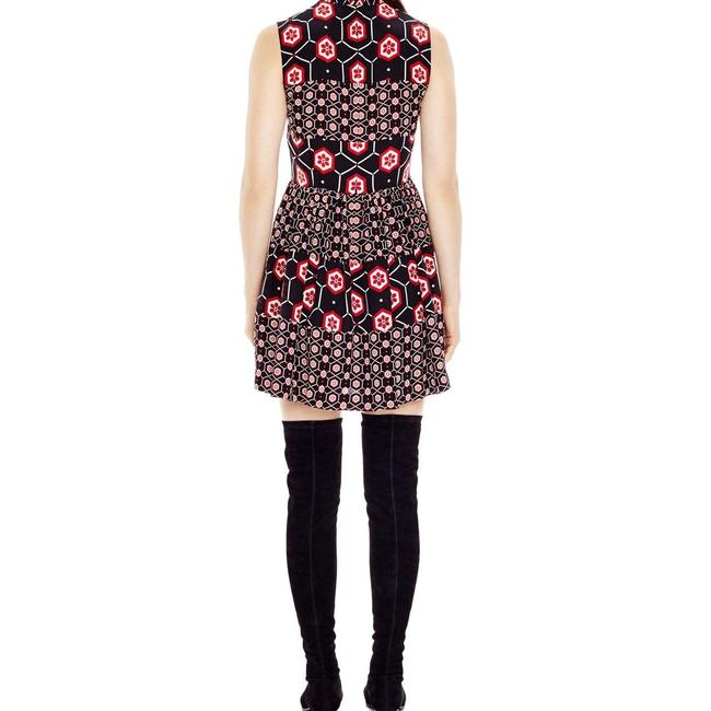 Sandro short dress Black with red and white print. on Tradesy Image 2