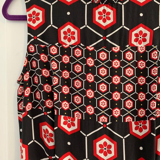 Sandro short dress Black with red and white print. on Tradesy Image 3