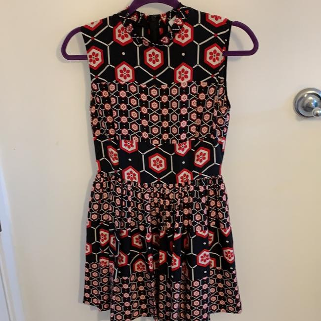 Sandro short dress Black with red and white print. on Tradesy Image 4
