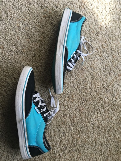 Vans black and turquoise Athletic Image 1