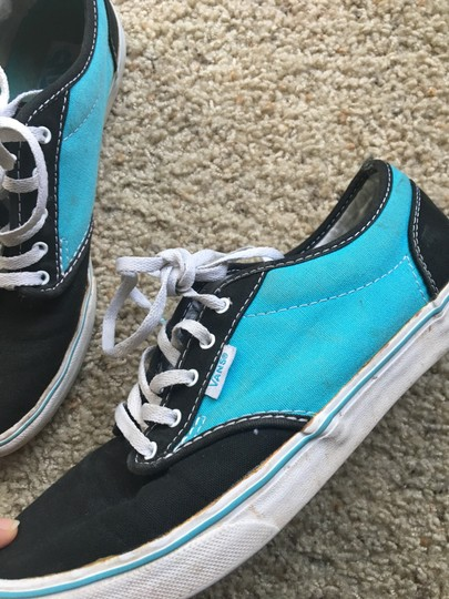 Vans black and turquoise Athletic Image 2