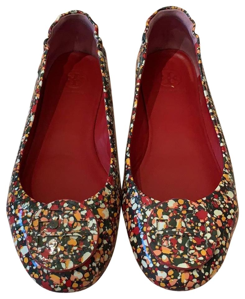251f87d1cfdd Tory Burch Multi-color Red Green  Yellow Minnie Travel Flats Size US ...