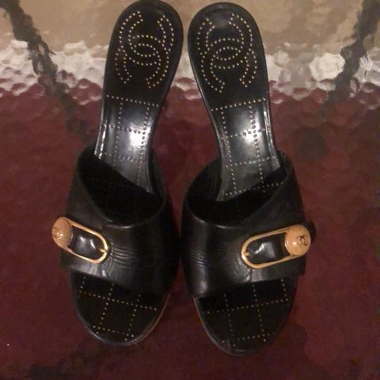 Chanel black Sandals Image 2