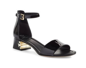 6189237707ac Tory Burch Black Finley Patent Leather Sandals