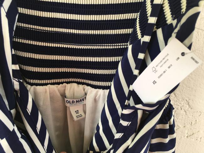 Old Navy short dress Navy Blue and White Stripe on Tradesy Image 4