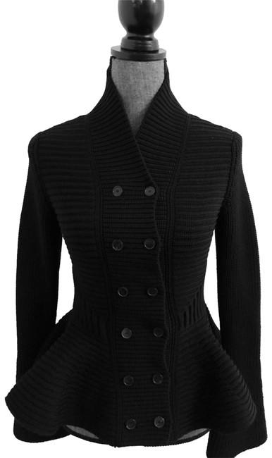 Preload https://img-static.tradesy.com/item/25007287/alexander-mcqueen-heavy-peplum-cardigan-black-sweater-0-1-650-650.jpg