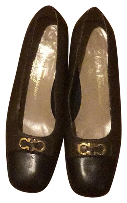 Item - Black N Brown N Gold Small Heels Flats Size US 7 Regular (M, B)