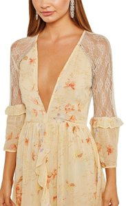 Ivory Maxi Dress by Topshop Floral Lace Crystals Midi Ruffle