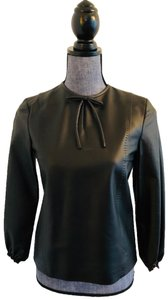 Coach Leather Shirt Top Black