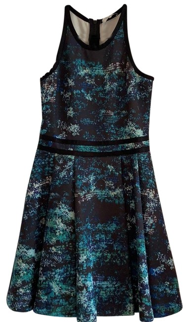 Preload https://img-static.tradesy.com/item/25007354/blue-and-black-bluegreen-mid-length-cocktail-dress-size-8-m-0-1-650-650.jpg
