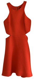Club Monaco Orange Dress With Cutouts Dress