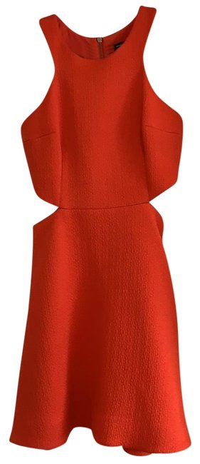 Preload https://img-static.tradesy.com/item/25007392/orange-mid-length-night-out-dress-size-4-s-0-1-650-650.jpg