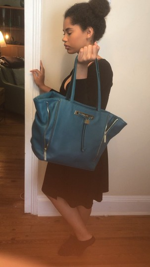 Olivia + Joy Faux Leather Tote in Turquoise Image 7