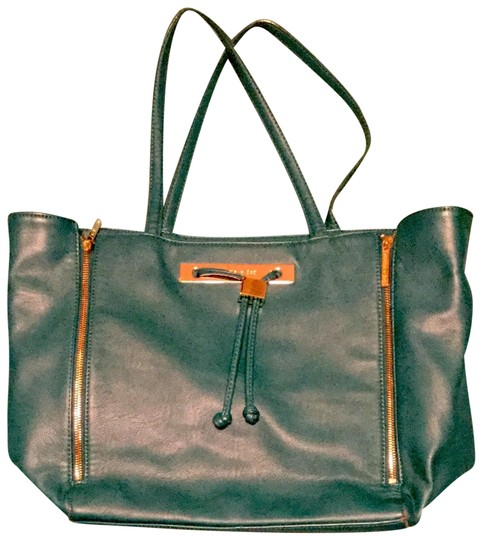 Preload https://img-static.tradesy.com/item/25007450/olivia-joy-stunning-olive-faux-leather-turquoise-polyester-tote-0-1-540-540.jpg