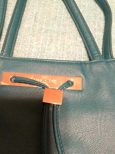 Olivia + Joy Faux Leather Tote in Turquoise Image 1