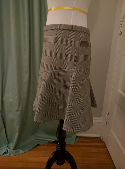 J.Crew Houndstooth Flare Skirt Black and white Image 1