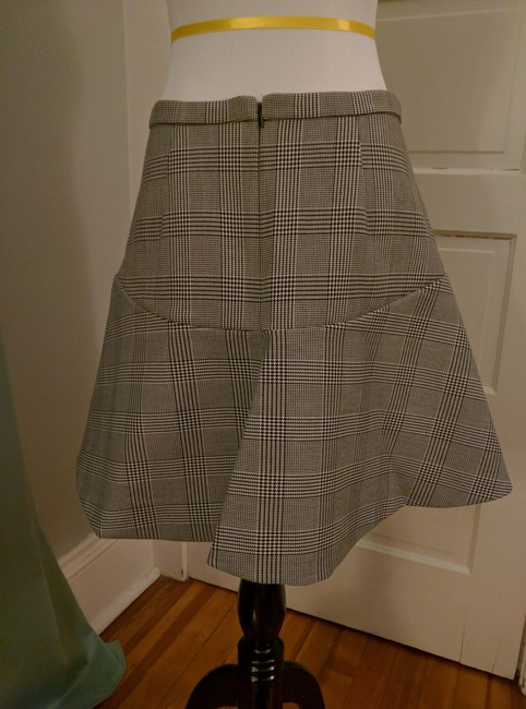 J.Crew Houndstooth Flare Skirt Black and white Image 3