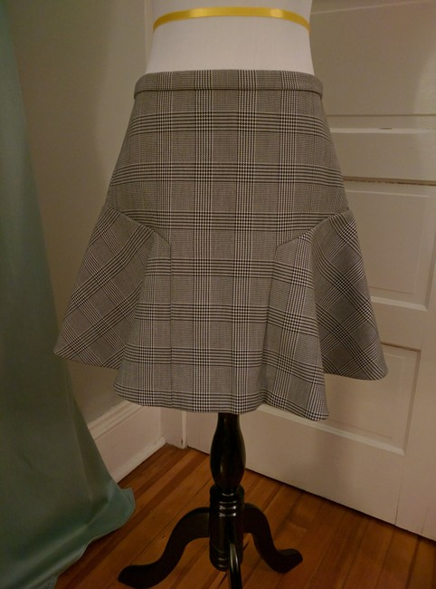 J.Crew Houndstooth Flare Skirt Black and white Image 4