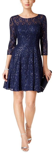 Preload https://img-static.tradesy.com/item/25007520/sl-fashions-navy-sequined-lace-fit-and-flare-mid-length-formal-dress-size-12-l-0-1-650-650.jpg