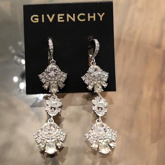 Givenchy Withe Gold Tree Lear Crystal Drops Earrings Image 1