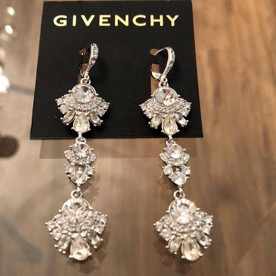 Givenchy Withe Gold Tree Lear Crystal Drops Earrings Image 2