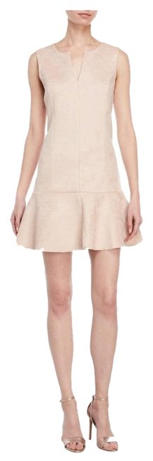 Preload https://img-static.tradesy.com/item/25007610/bcbgmaxazria-pink-faux-suede-flounce-mid-length-cocktail-dress-size-8-m-0-2-650-650.jpg