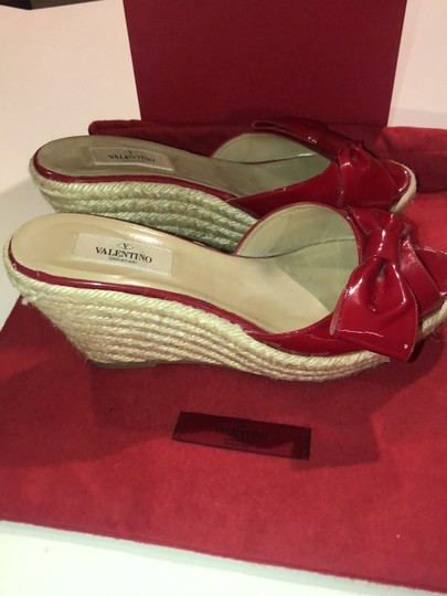 Valentino red Wedges Image 3