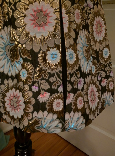 J.Crew Pleats Collection Skirt Black, gold, pink, blue Image 3
