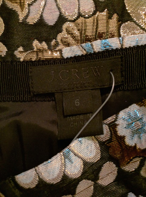 J.Crew Pleats Collection Skirt Black, gold, pink, blue Image 4