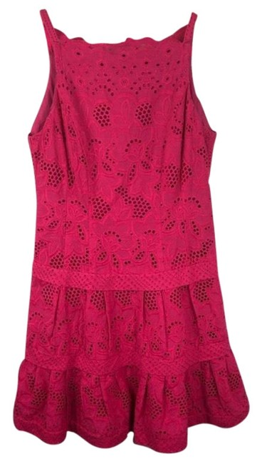 Preload https://img-static.tradesy.com/item/25007719/kate-spade-fuchsia-pink-lace-tiered-ruffle-mid-length-cocktail-dress-size-8-m-0-1-650-650.jpg