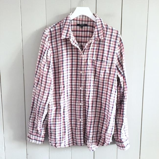Madewell Button Down Shirt red, white Image 1