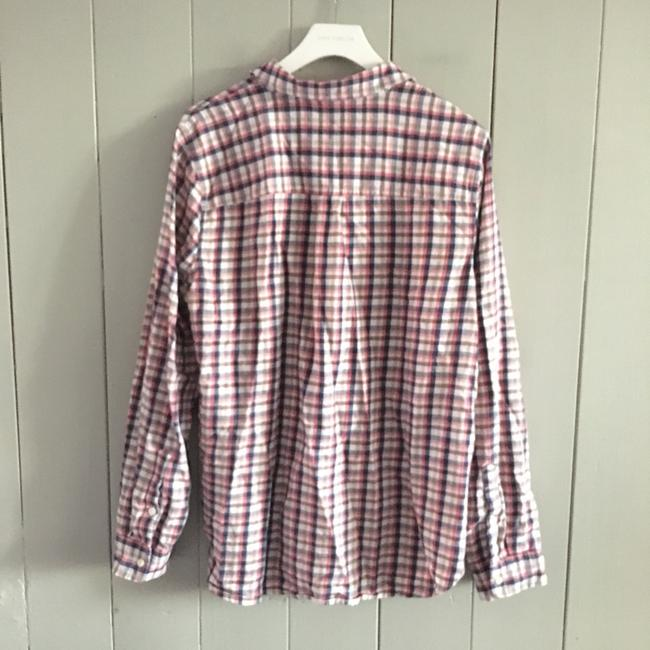 Madewell Button Down Shirt red, white Image 2