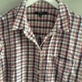 Madewell Button Down Shirt red, white Image 3