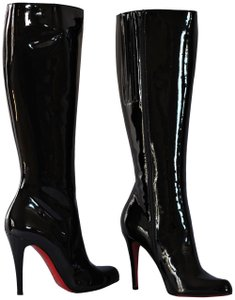 Christian Louboutin Thigh High Ankle Over Knee Black Boots