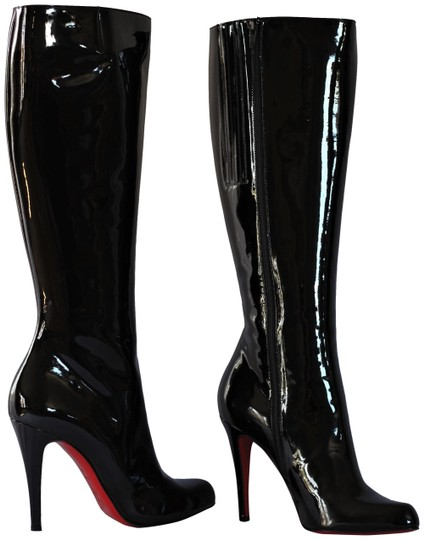 Preload https://img-static.tradesy.com/item/25007797/christian-louboutin-black-patent-leather-heel-lady-fashion-zip-toe-red-sole-italy-knee-high-bootsboo-0-2-540-540.jpg