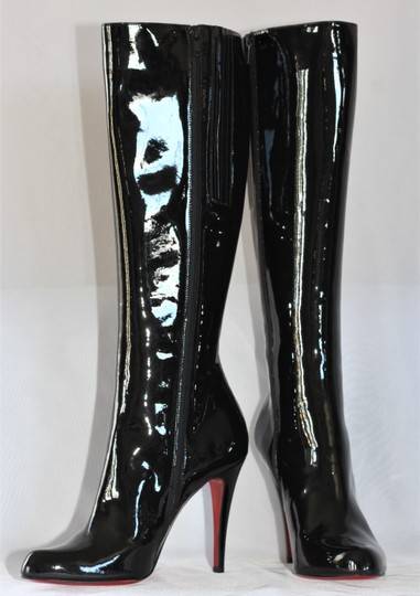 Christian Louboutin Thigh High Ankle Over Knee Black Boots Image 2