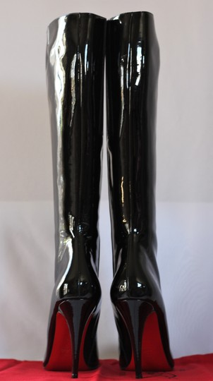 Christian Louboutin Thigh High Ankle Over Knee Black Boots Image 6