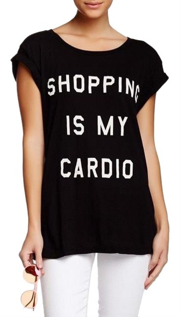 Preload https://img-static.tradesy.com/item/25007806/wildfox-shopping-is-my-cardio-hippie-crew-black-tee-shirt-size-4-s-0-1-650-650.jpg