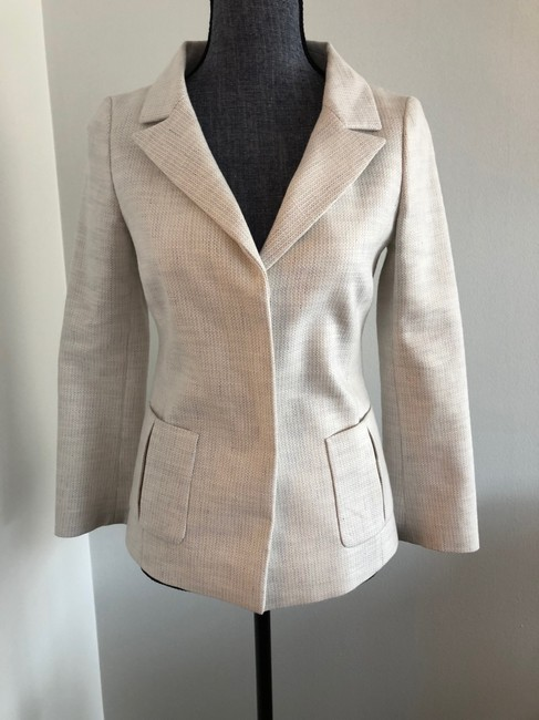 Valentino Jacket Size 4 White and Lavender Blazer Image 1