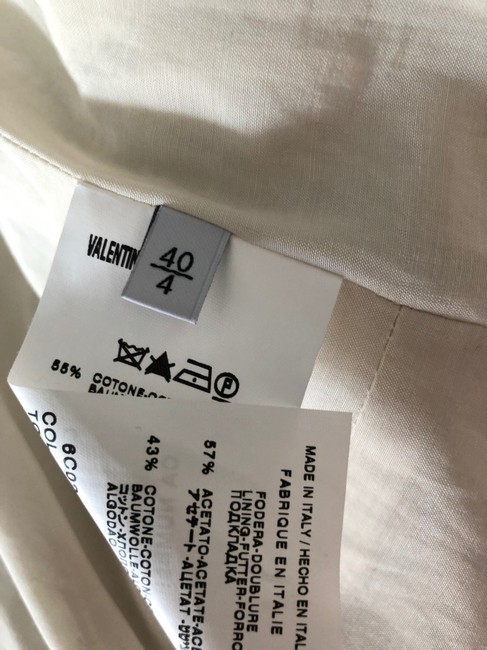 Valentino Jacket Size 4 White and Lavender Blazer Image 10